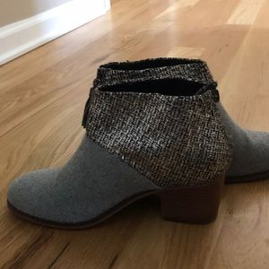 TOMS grey and silver Leila bootie
